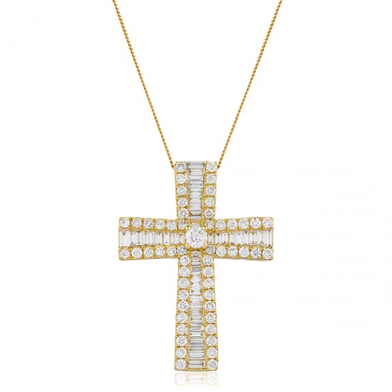 1.25ct 18ct Yellow Gold Cross Pendant