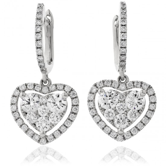 0.80ct 18ct White Gold Drop Earrings