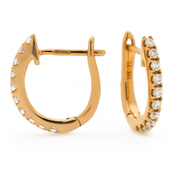 0.15ct 18ct Rose Gold Hoop Earrings