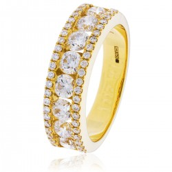 0.37ct 18ct Yellow Gold Dress Ring