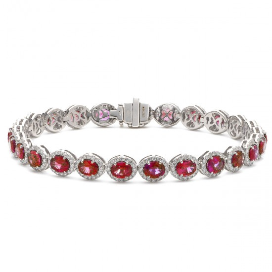 2.00ct 18ct White Gold Ruby Bracelet