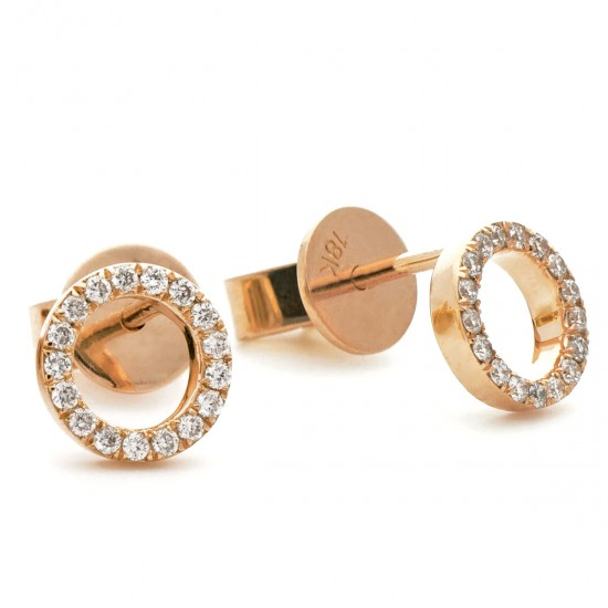 0.15ct 18ct Rose Gold Stud Earrings