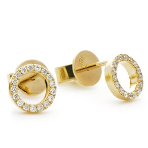 0.15ct 18ct Yellow Gold Stud Earrings