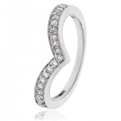 0.25ct Platinum Cluster Ring