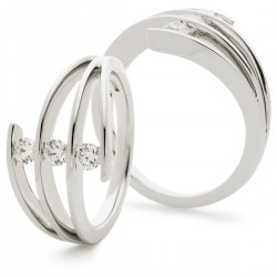 0.37ct 18ct White Gold Dress Ring