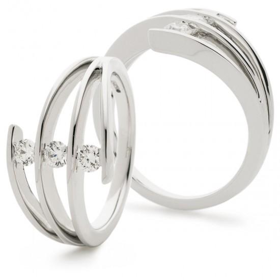 0.37ct 18ct White Gold Dress Ring