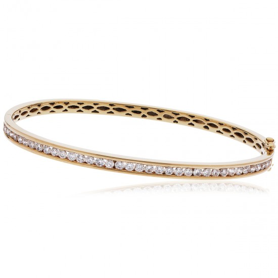 0.60ct 9ct  Rose Gold Diamond Bangle
