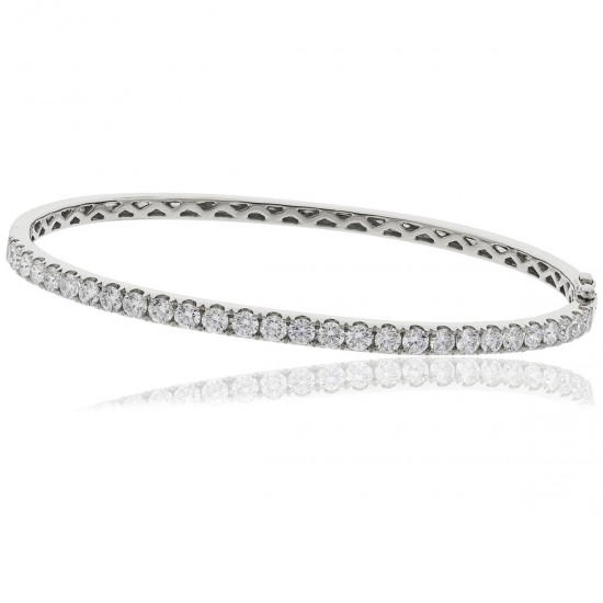 0.90ct 18ct White Gold Diamond Bangle