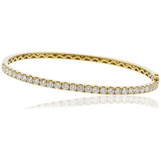 0.90ct 18ct Yellow Gold Diamond Bangle