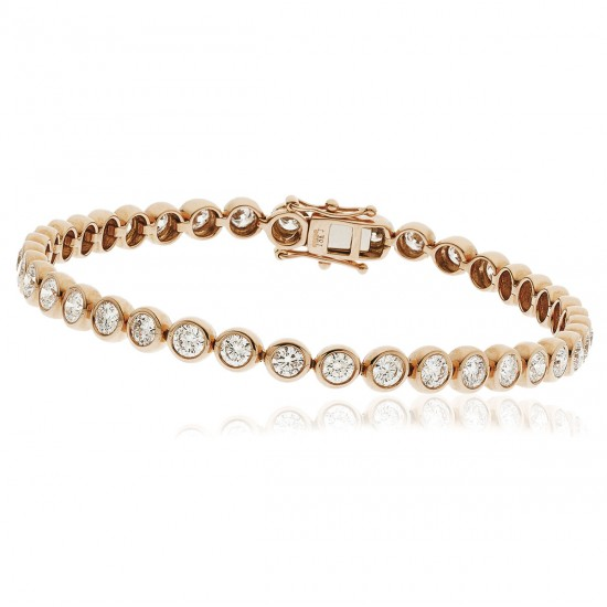 1.00ct 18ct Rose Gold Tennis Bracelet