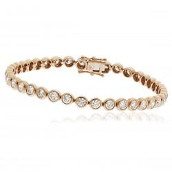 1.00ct 9ct  Rose Gold Tennis Bracelet