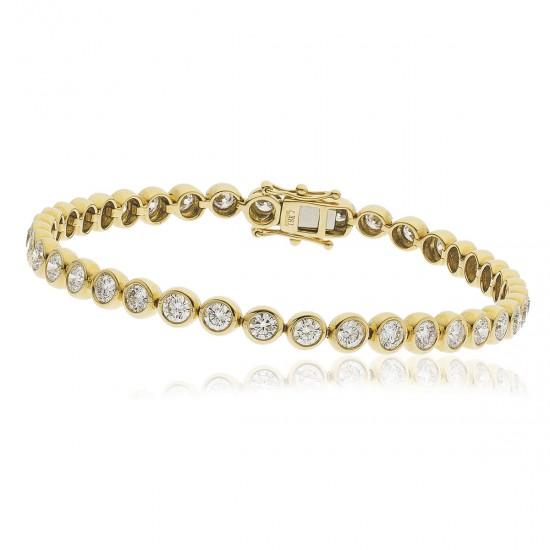 1.00ct 18ct Yellow Gold Tennis Bracelet