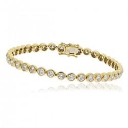 1.00ct 9ct  Yellow Gold Tennis Bracelet