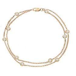 0.15ct 18ct Rose Gold Fancy Bracelet