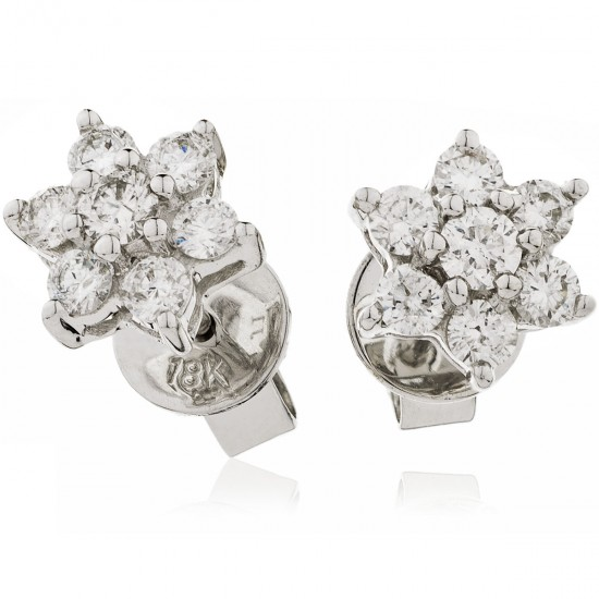 0.25ct 9ct  White Gold Stud Earrings