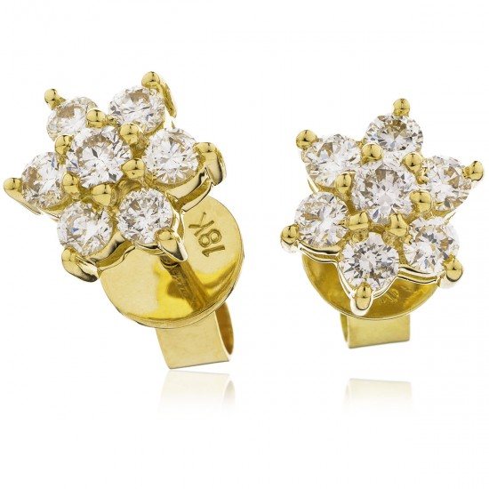 0.25ct 18ct Yellow Gold Stud Earrings