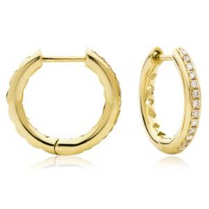 0.17ct 18ct Yellow Gold Hoop Earrings