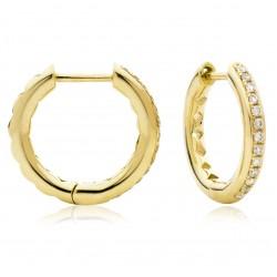 0.17ct 9ct  Yellow Gold Hoop Earrings