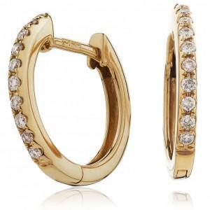 0.10ct 18ct Rose Gold Hoop Earrings