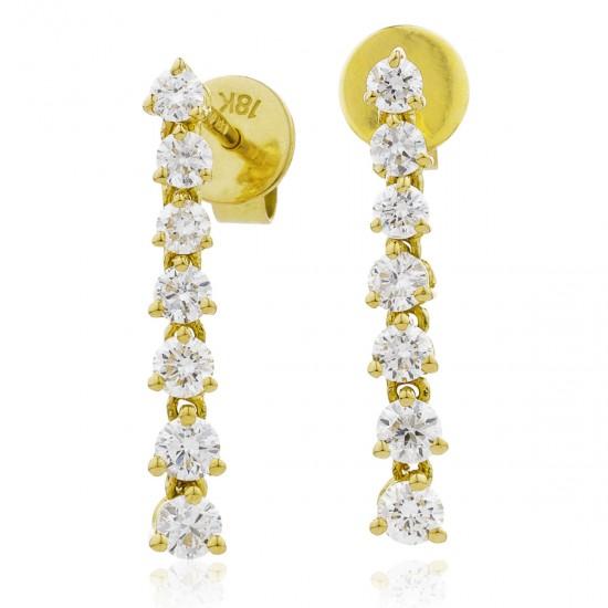 0.75ct 18ct Yellow Gold Drop Earrings