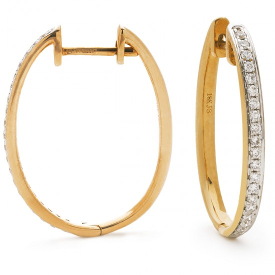 0.25ct 18ct Rose Gold Hoop Earrings