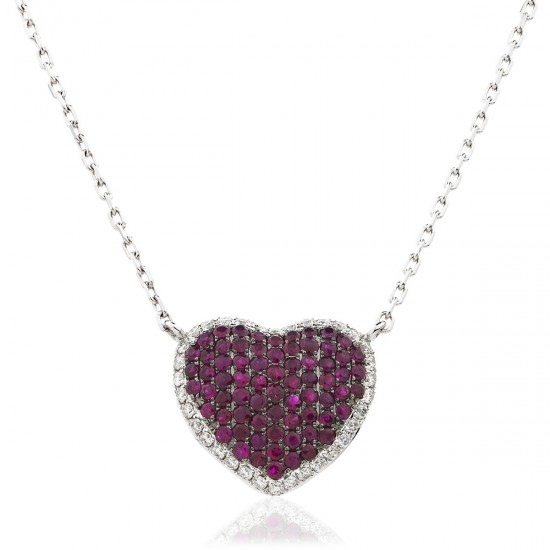 1.15ct 18ct White Gold Ruby Pendant