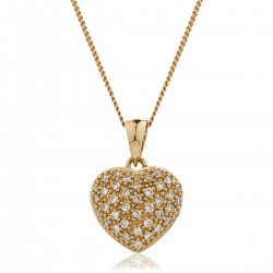 0.20ct 9ct  Rose Gold Heart Pendant