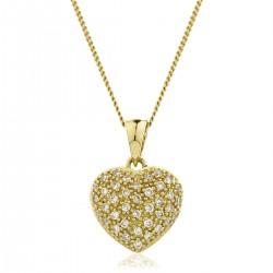0.20ct 18ct Yellow Gold Heart Pendant