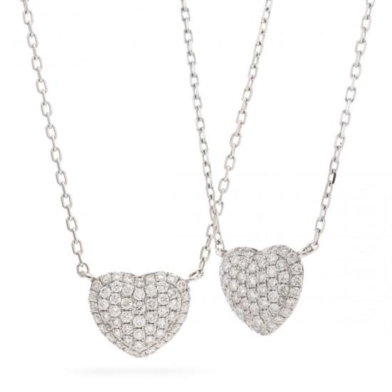 0.50ct 18ct White Gold Heart Pendant