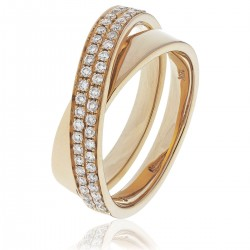 0.30ct 18ct Rose Gold Dress Ring