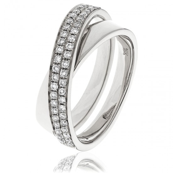 0.30ct 18ct White Gold Dress Ring