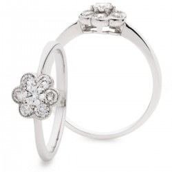 0.30ct 18ct White Gold Cluster Ring