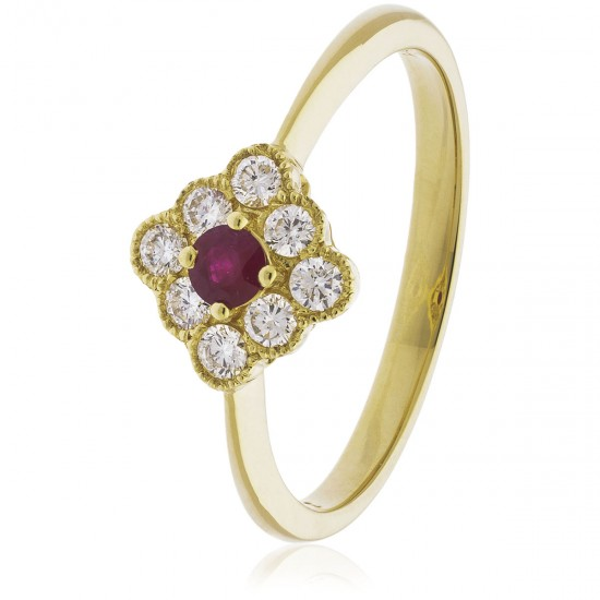 0.40ct 18ct Yellow Gold Ruby Ring