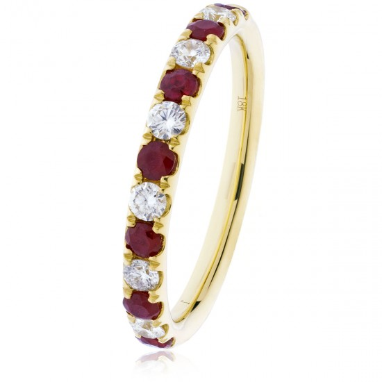 0.33ct 18ct Yellow Gold Ruby Ring