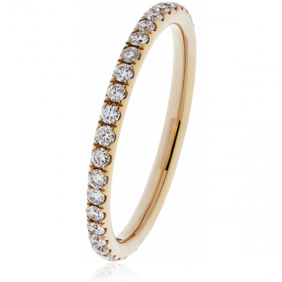0.40ct 18ct Rose Gold Full Eternity Ring