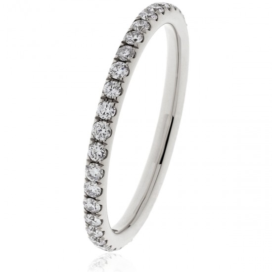 0.40ct 18ct White Gold Full Eternity Ring