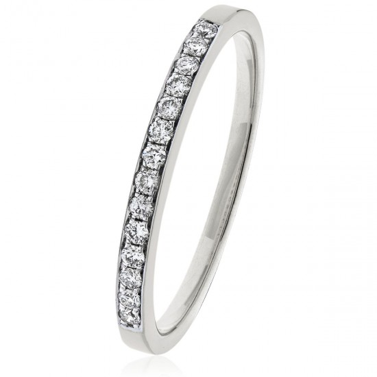 0.15ct Platinum Half Eternity Ring