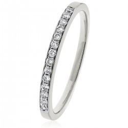 0.15ct 9ct  White Gold Half Eternity Ring