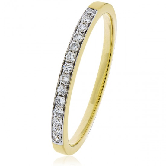 0.15ct 9ct  Yellow Gold Half Eternity Ring