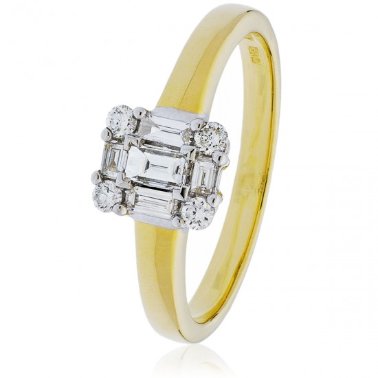 0.30ct 18ct Yellow Gold Cluster Ring