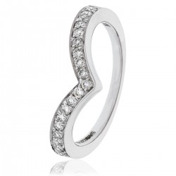 0.10ct 18ct White Gold Cluster Ring