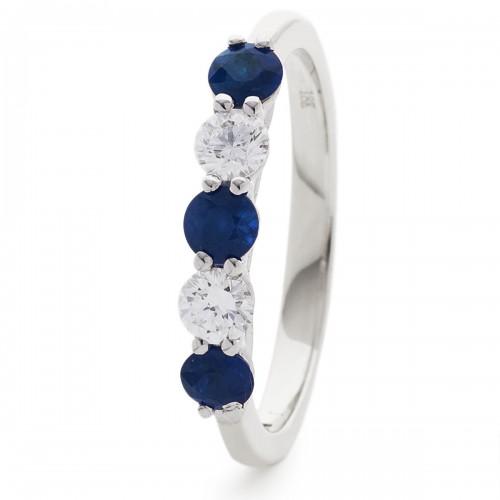 0.37ct 18ct White Gold Gemstone Ring