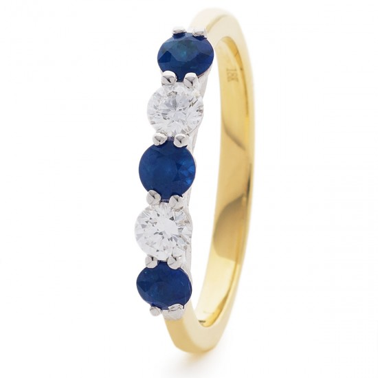 0.37ct 18ct Yellow Gold Blue Sapphire Ring