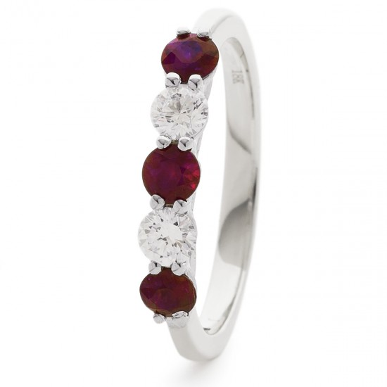 0.37ct 18ct White Gold Ruby Ring