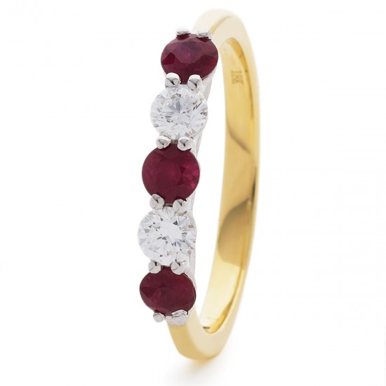 0.37ct 18ct Yellow Gold Ruby Ring