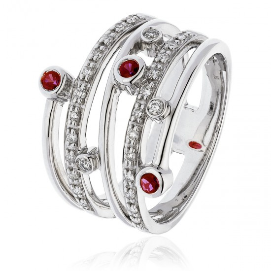 0.40ct 18ct White Gold Ruby Ring