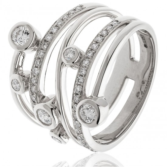 0.40ct 18ct White Gold Dress Ring