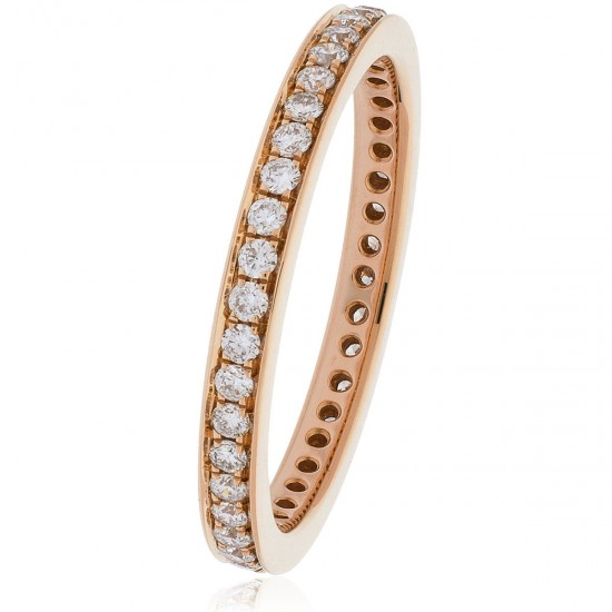 0.45ct 18ct Rose Gold Full Eternity Ring