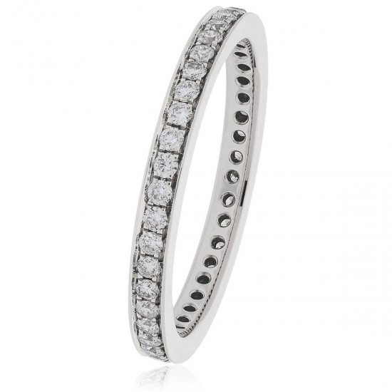 0.45ct 18ct White Gold Full Eternity Ring