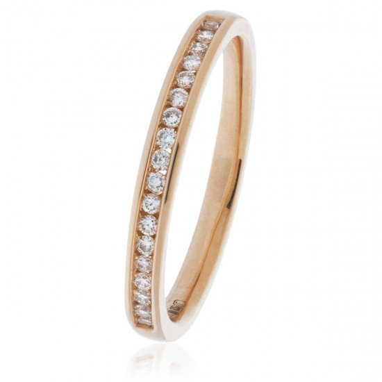 0.15ct 9ct  Rose Gold Half Eternity Ring
